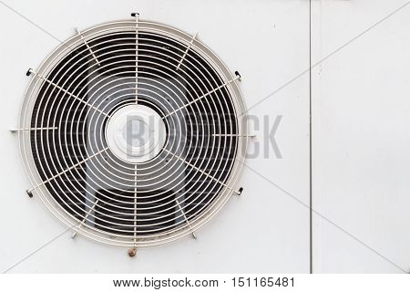 old air condensing unit steel line background