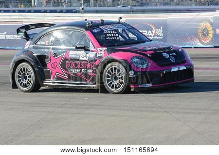 Tanner Foust 34, Drives A Volkswagen Beetle Car, During The Red Bull Global Rallycross