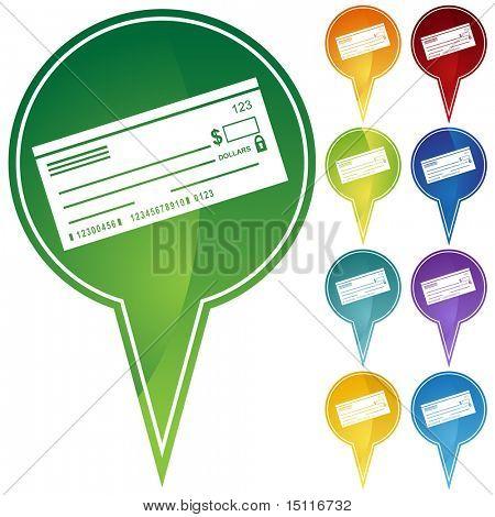 checkbook icon pin