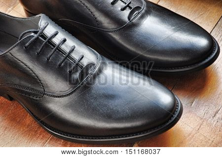 Formal Male Leather Black Classic Design Fashion Foot Wear