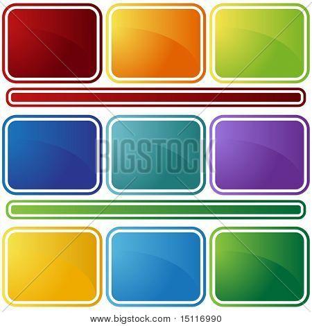 Abschrägung Icon-set