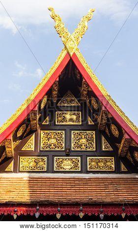 lanna wood  gable apex style , art