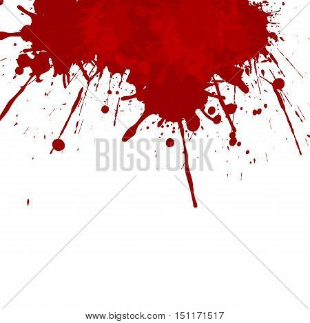 Vector splatter red color background. illustration vector design