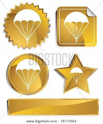 parachute icon gold