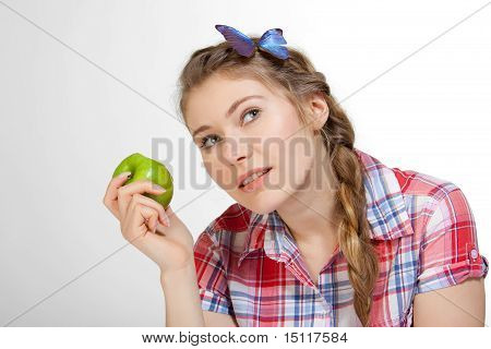 Eating Healthy Apple