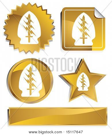 sword lightning special forces icon gold