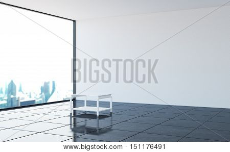 The interior of an empty nonresidential room in a modern style. 3d illustration