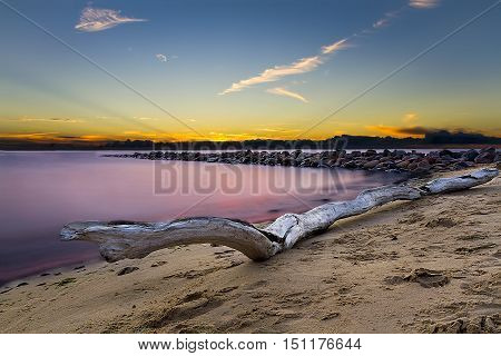 Tujas mole/Old pier on the Baltic Sea,state of Latvia.