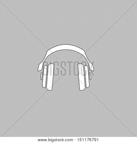 Earphones Icon Vector. Flat simple color pictogram
