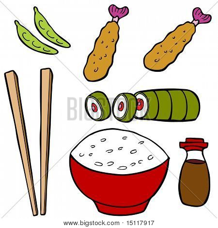 Alimentos de sushi