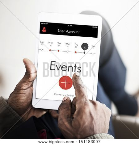 Events Appointment Calendar Concept