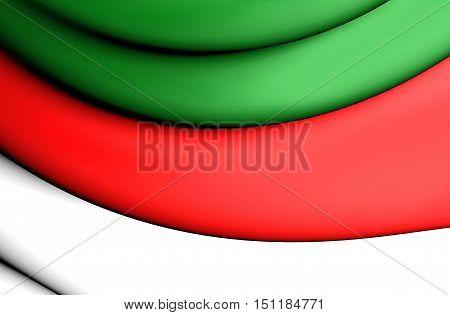 3D Flag Of Heligoland, Germany. 3D Illustration.