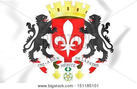 Lille Coat Of Arms, France. 3D Illustration.
