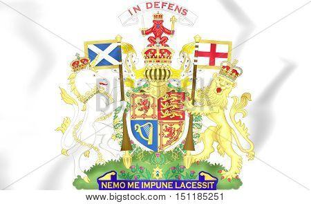 Coat Of Arms Of United Kingdom (scotland). 3D Illustration.