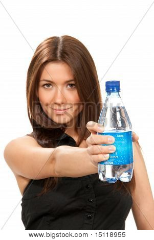 Girl Hold Bottle
