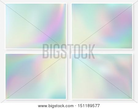 Holographic Background Vibrant Pastel Texture Turquoise