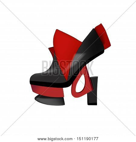 Fashionable shoes with high heels. Vector illustration