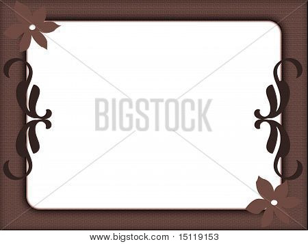 Brown frame with flowers