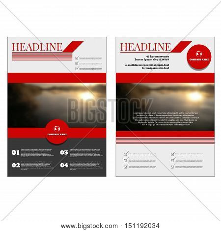 Business Annual Report Brochure Flyer Design Template Vector Cover Presentation Geometric Background