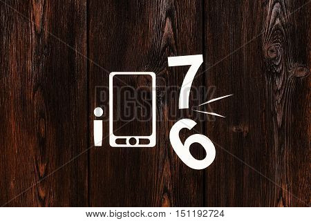 Smartphone 6 vs new 7 model. Abstract mobile phone conceptual image