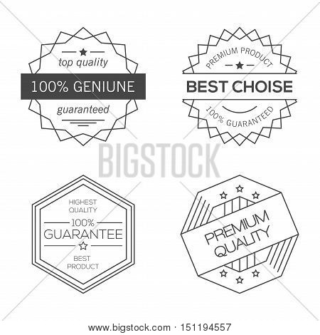 GuaraGuarantee, quality and best choice vector minimal monochrome geometric vintage badgesntee, quality and best choice vector minimal monochrome geometric vintage badges