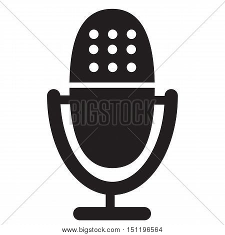 microphone icon on white background. microphone button.