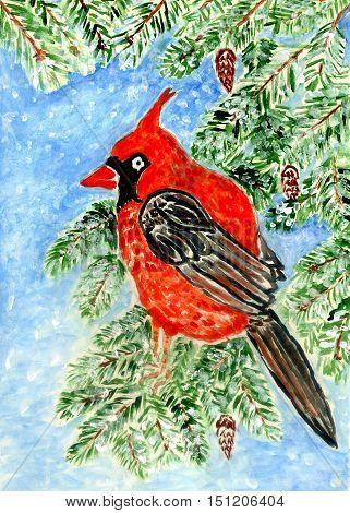 Red Cardinal Art