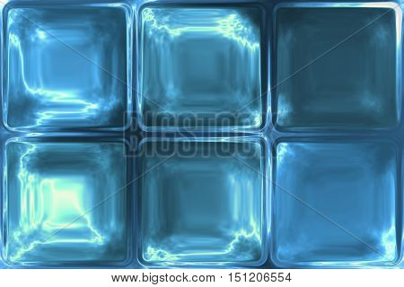 Blue crystal ice icy glass tiles abstract texture