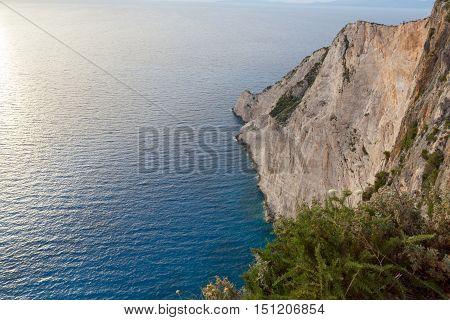 Rocks near Navagio Shipwreck beach, Zakynthos, Greece