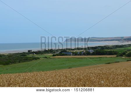 View of a landscape from a trail in Nord Pas De Calais