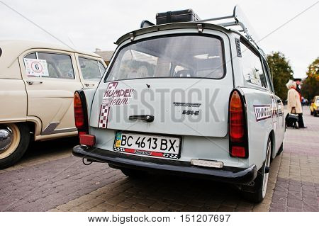 Tarnopol, Ukraine - October 09, 2016: Classic Retro Car Trabant 601 S Deluxe Universal, Was Model Pr