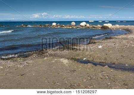 Seascape from Argassi beach, Zakynthos island, Greece