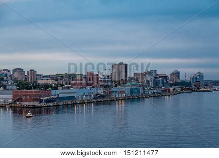 Coast of Halifax Nova Scotia at sunset