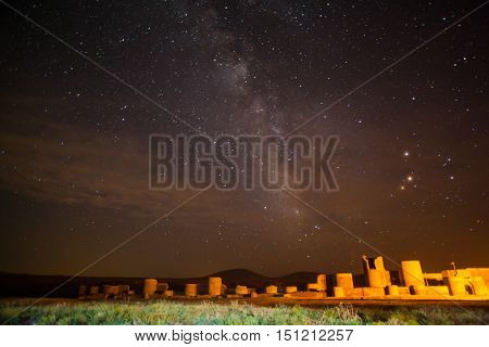 Night shot in Ani Turkey. Ani used to be the capital of the Bagratid Armenian kingdom between 961 and 1045.