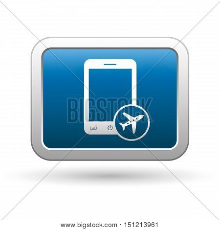 Phone with in plane mode icon on the button. Vector illustration