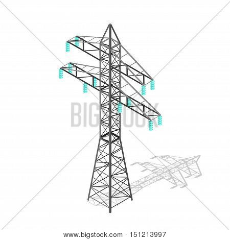 High Voltage Power Pylon. Transmission Tower. Vector illustration