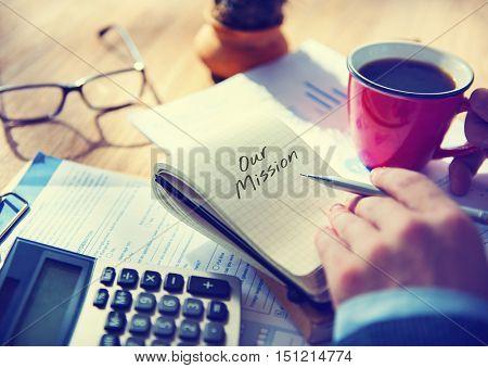 Mission Aspiration Goals Ideas Inspiration Vision Concept