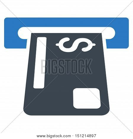 Payment Terminal icon. Glyph style is bicolor flat iconic symbol with rounded angles smooth blue colors white background.