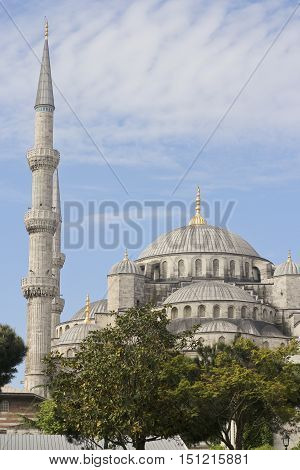 Istanbul Sultan Ahmed Mosque view from the street
