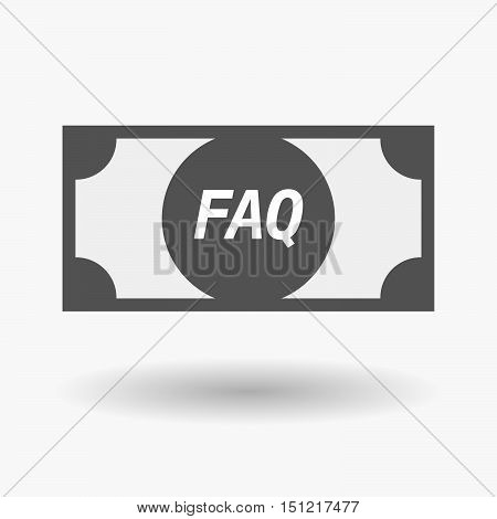 Isolated Bank Note Icon With    The Text Faq