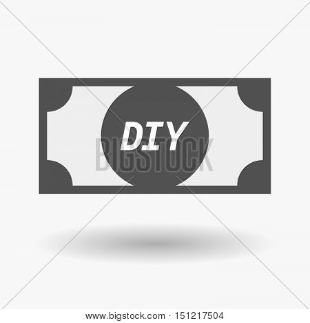 Isolated Bank Note Icon With    The Text Diy