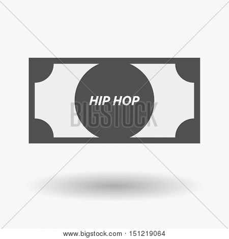 Isolated Bank Note Icon With    The Text Hip Hop