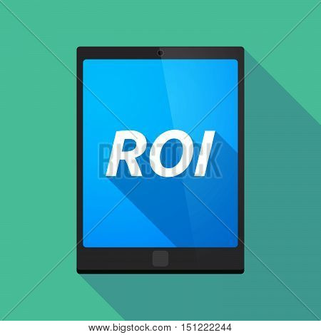 Long Shadow Tablet Pc With    The Return Of Investment Acronym Roi