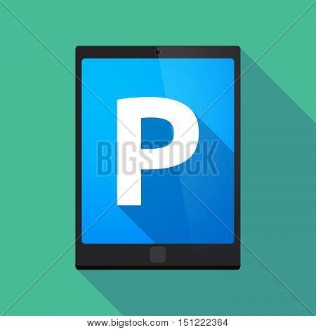 Long Shadow Tablet Pc With    The Letter P