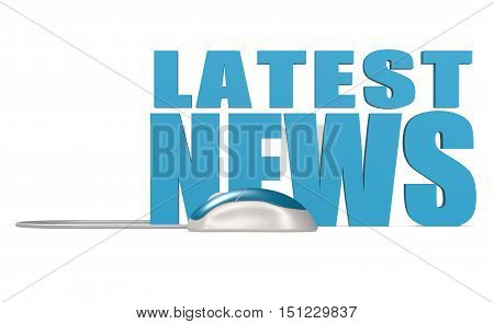 Latest News Word Isolated