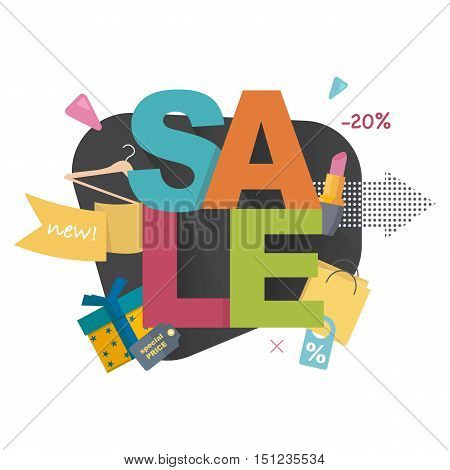 Sale concept , poster, banner. Big sale,special offer, discounts, clearance. Vector illustration.