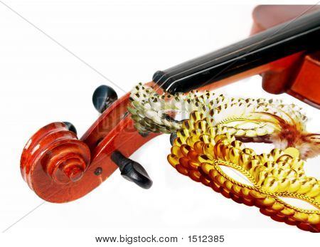 Violin And Masks