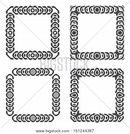 abstract frames grayscale set vector illustration isolated
