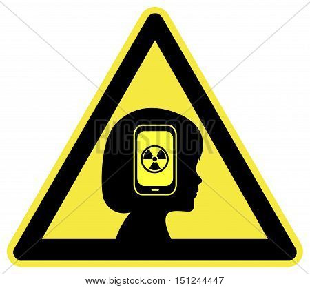 Warning Cell Phone Radiation. Kids facing health risks from the exposure to Smartphones