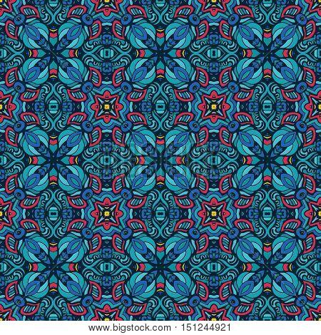 Festive Colorful seamless pattern ornamental. Geometric print